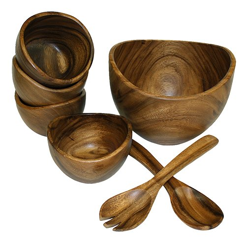 Mountain Woods 7 Piece Organic Acacia Bowl Set