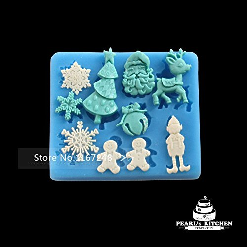 Christmas Gift Santa Claus Snow Shape Fondant Molds Cake Tools Molde De Silicone Chocolate Mold 3D Silicon Molds Cake Decorating front-492025