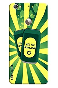 Omnam yes we can printed cans with green yellow combi for LeTv Le 1s