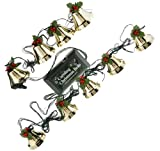 Caroling Christmas Bells - 9 Piece Pre-Tuned Musical Bells Strand