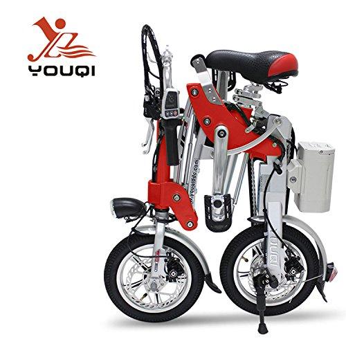 Youqi 2Nd Gen Folding E-Bike (Red)