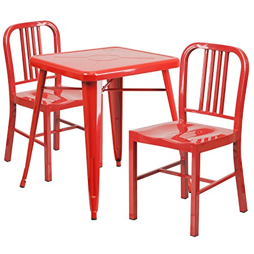 Red Kitchen Table and Chair Set
