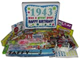 70th Birthday Gift Basket Box 1943 - Retro Nostalgic Candy