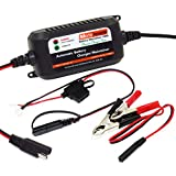 MOTOPOWER 12V 1.5Amp Fully Automatic Battery Charger / Maintainer for Cars, Motorcycles, ATVs, RVs, Powersports, Boat and More. Smart, Compact and Eco Friendly