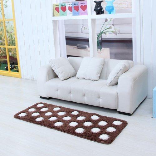 DIAIDI Cute Area Rugs ,Polka Dots Carpet,Dinning Room Rug,Bedroom Rug,Bed Rug,Cute Rug,Brown Rugs,Lovely Kitchen Rugs,Kids Room Rugs, Kids Area Rugs,Floor Rugs for Home Carpet