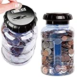 Sentik Water Bottle Digital UK Coin Counting Money Jar