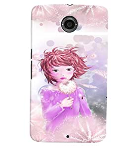 Fuson 3D Printed Girly Designer back case cover for LG Google Nexus 6 - D4321