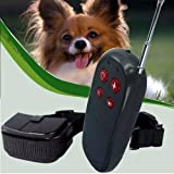 GICHA(TM) Remote 4 in 1 LCD Rechargeable and Waterproof Pet Dog Training Collar with 100lvs Shock and Vibration