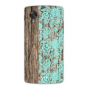 Designer Phone Covers - Google Nexus 5-wood-with-floral