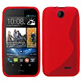 Samrick 'S' Wave Hydro Gel Protective Case for HTC Desire 310 - Red
