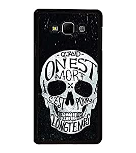 Fuson Premium 2D Back Case Cover Designed Skull With Red Background Degined For Samsung Galaxy A8::Samsung Galaxy A8 A800F