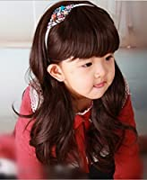 """RoyalStyle 20"""" 50cm Child Hair Wig Cosplay wig Children's Curly Wig Hair Lovely Neat bang Wig for Kids(Brown) by RoyalStyle"""