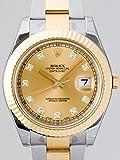 ロレックス ROLEX パーペチュアル デイトジャストII メンズ 116333G シャンパン [並行輸入品]
