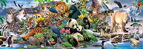 Around the World - 500 Piece Panoramic Jigsaw Puzzle By Sunsout Inc.