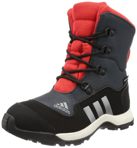 Adidas Performance ADISNOW II PL CP K Trekking & Hiking Shoes Unisex-Child Gray Grau (DARK SHALE / NEO IRON MET. F11 / HI-RES RED F13) Size: 36 2/3