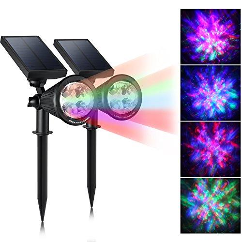 40% OFF! CREATIVE DESIGN LED Outdoor Solar Spotlight, Multi-Colored 4 LED Adjustable Landscape ...
