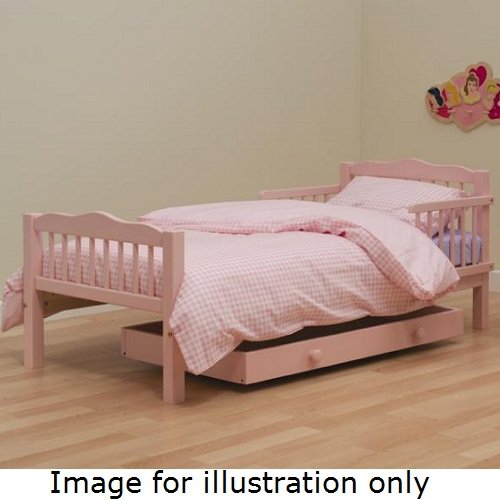 Saplings Pine Junior / Toddler Bed in Pink with Deluxe Foam Mattress
