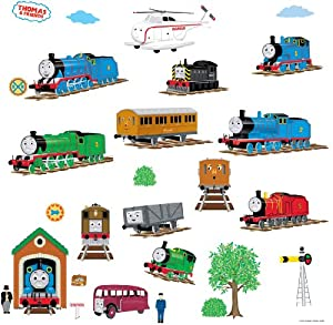 RoomMates RMK1035SCS Thomas The Tank Engine and Friends Peel and Stick Wall Decals by RoomMates