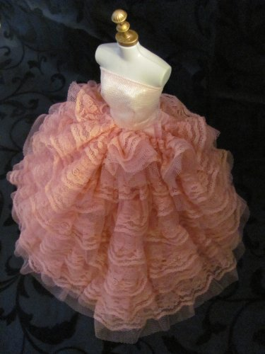 Barbie Doll Clothes Dress: Pink dress with a Lot of Ruffles Fit 11.5 Inch Barbie Dolls