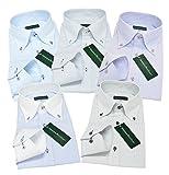 (グリニッジ ポロ クラブ) GREENWICH POLO CLUB ワイシャツ 5枚セット ボタンダウン 白 pc M-ゆったりレギュラー