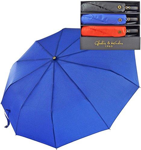 Premium Compact Travel Umbrella with Auto Open Close. Industry Leading 10 Rib