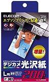 ELECOM 光沢紙 エプソンインクジェットプリンタ対応 厚手 L判 200枚入り EJK-EGL200
