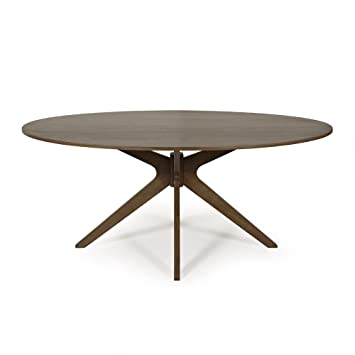 The Waltham Large Oval Dining Table - four to six seats. 1.8m by 1.1m in walnut veneer finish