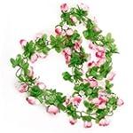 Artificial Rose Garland Silk Flower V...