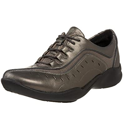 Clarks Wave Wheel Womens Lace Up Shoes Pewter 5