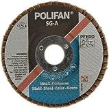 PFERD Polifan SG Abrasive Flap Disc, Type 29, Round Hole, Phenolic Resin Backing, Aluminum Oxide
