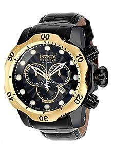 Invicta 16683 Mens Reserve 52mm Venom Swiss Made Quartz Chronograph Leather Strap Watch
