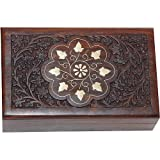 Jewellery Boxes Cases Hand Engraved with Brass Workby ShalinIndia