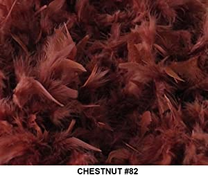 Solid Boas 6 Foot Long 50 Gram in a Variety of Shades Great for Parties, Crafts, and Fun! (Chestnut brown #82)