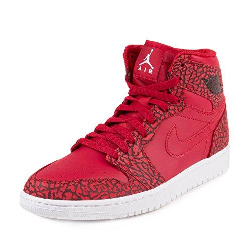 Nike Jordan Mens Air Jordan 1 Retro High Basketball Shoe Gym Red/White/Team Red/White 13 D(M) US (Michael Jordan Shoes 13 compare prices)