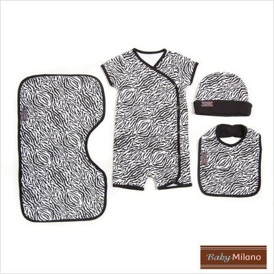 4 Piece Baby Clothing Gift Set in Zebra Print Size: 12-18 Months