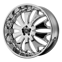 Lorenzo WL029 22×8.5 Chrome Wheel / Rim 5×115 with a 18mm Offset and a 72.60 Hub Bore. Partnumber WL02922815218