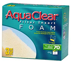 Aquaclear 70-Gallon Foam Inserts, 3-Pack