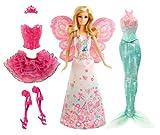 Toy - Mattel BCP36 - Barbie Puppe, Modern Fairytale 3-in-1 Fantasie