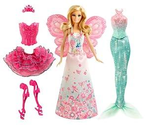 Mattel BCP36 - Barbie Puppe, Modern Fairytale 3-in-1 Fantasie