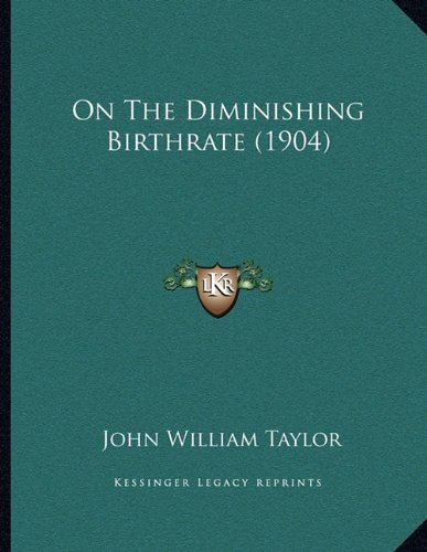 On The Diminishing Birthrate (1904) PDF