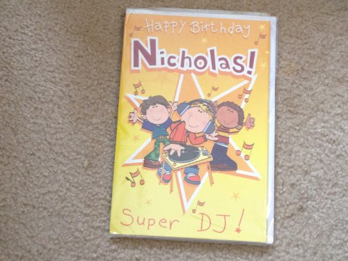 Happy Birthday Nicholas - Singing Birthday Card - 1