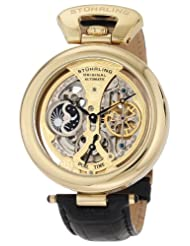 Stuhrling Original Men's 127A.333531 Emperor's Grandeur Automatic Skeleton Goldtone Dial Watch