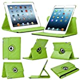 Stuff4 Leather Smart Case with 360 Degree Rotating Swivel Action and Free Screen Protector/Stylus Touch Pen for Apple iPad Mini/Mini Retina - Green
