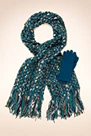 Per Una Ribbon Weave Scarf & Gloves Set [T01-0520P-S]