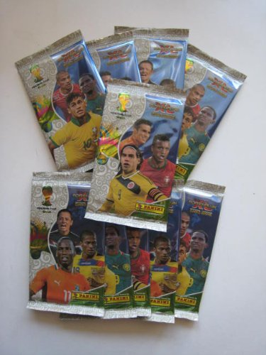 NEW Panini FIFA World Cup Brazil 2014 Adrenalyn Soccer Cards 10 Packs (60 Cards) (Panini Stickers World Cup compare prices)