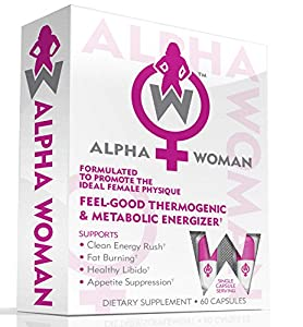ALPHA WOMAN Fat Burner - The Best Weight Loss Supplement for Women, The World's First Multipurpose Feel Good Thermogenic Energizer, Libido Booster, Appetite Suppressant & Mood Enhancer, 60 Capsules