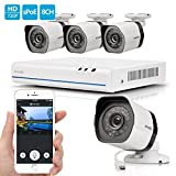 Zmodo 4 Channel HDMI NVR 4x720p HD Security Camera Smart Simplified PoE System No Hard Drive