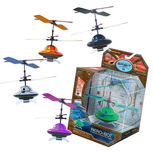 Aero- Bot Micro Ufo Flying Saucer With Led Lights