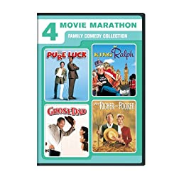 4 Movie Marathon: Family Comedy Collection (Pure Luck / King Ralph / Ghost Dad / For Richer or Poorer)