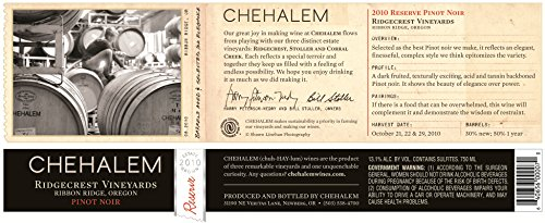 2010 Chehalem Reserve Pinot Noir 750 Ml